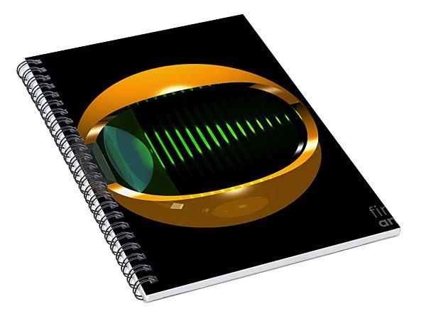 Brass Eye Infinity Spiral Notebook