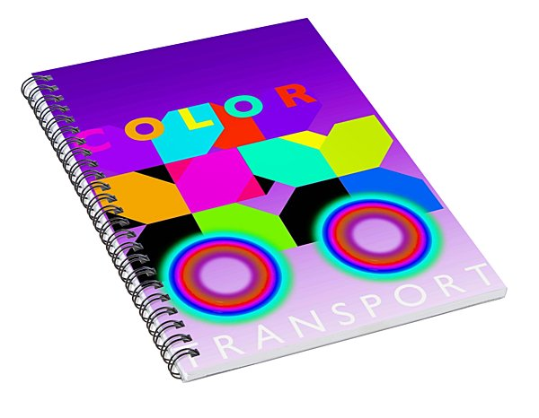 Color Wheels Spiral Notebook