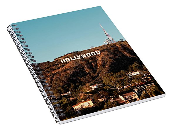 Hollywood Sign At Sunset Spiral Notebook