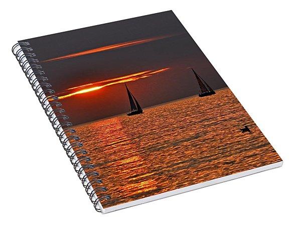 Red Maritime Dream Spiral Notebook