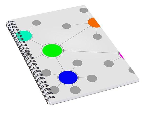 Network Spiral Notebook