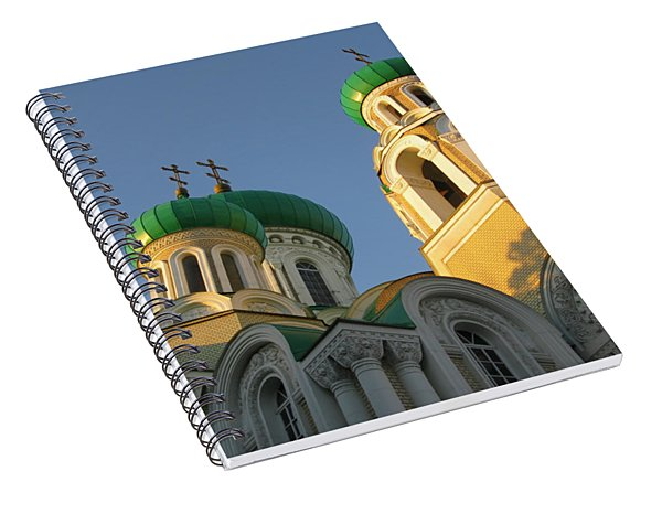 Orthodox Church Of Sts Michael And Constantine- Vilnius Lithuania Spiral Notebook