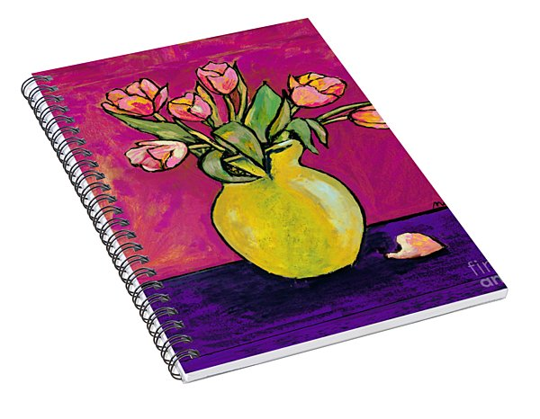 Parrot Tulips In A Yellow Vase Spiral Notebook