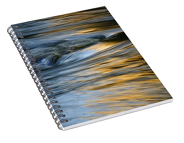 Rock And Blue Gold Water Spiral Notebook