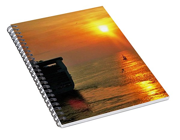 Sailing Into The Sunset Spiral Notebook