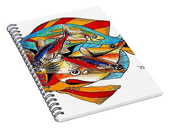 Seven Fish Spiral Notebook