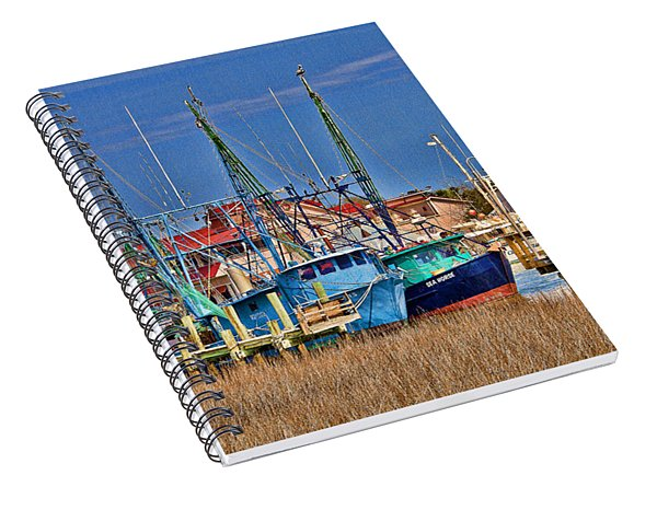 Shem Creek Shrimpers Spiral Notebook