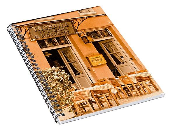Athens, Greece - Taverna Spiral Notebook