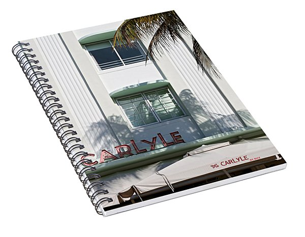 The Carlyle Hotel 2. Miami. Fl. Usa Spiral Notebook