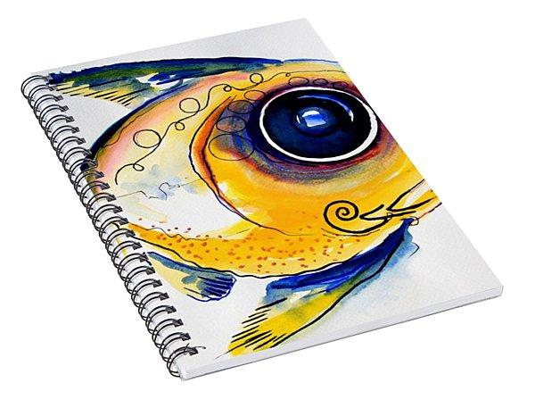Yellow Study Fish Spiral Notebook