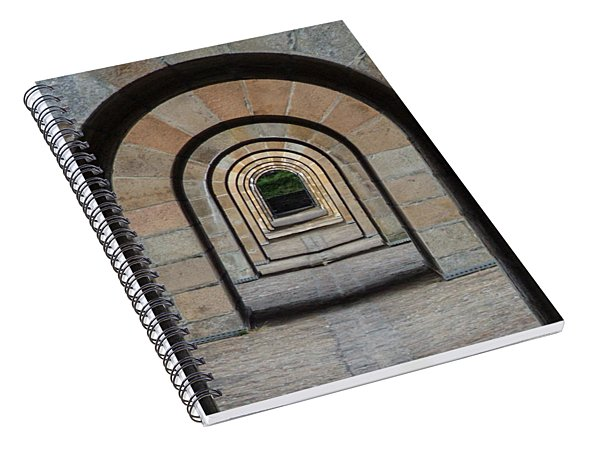 Receding Arches Spiral Notebook