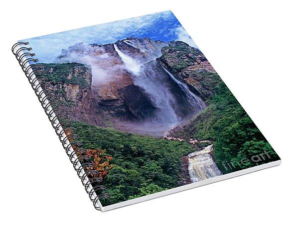 Angel Falls In Canaima National Park Venezuela Spiral Notebook