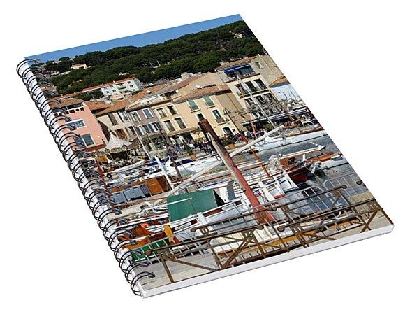 Cassis Harbor Spiral Notebook