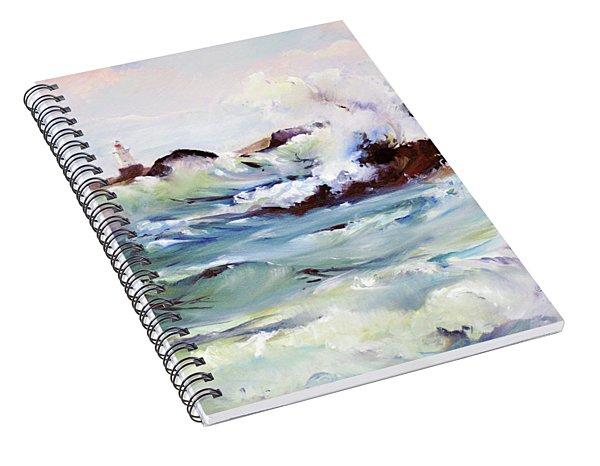 Churning Surf Spiral Notebook