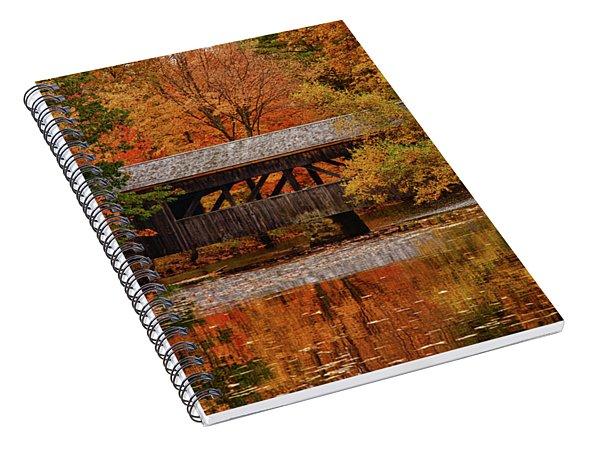 Covered Bridge At Sturbridge Village Spiral Notebook