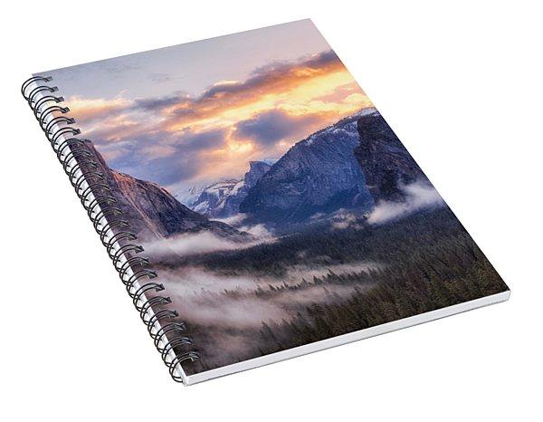 Daybreak Over Yosemite Spiral Notebook