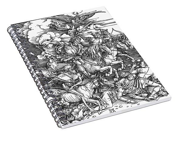 Four Horsemen Of The Apocalypse Spiral Notebook