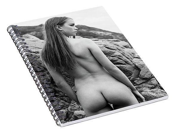 Girl On The Rocks Spiral Notebook