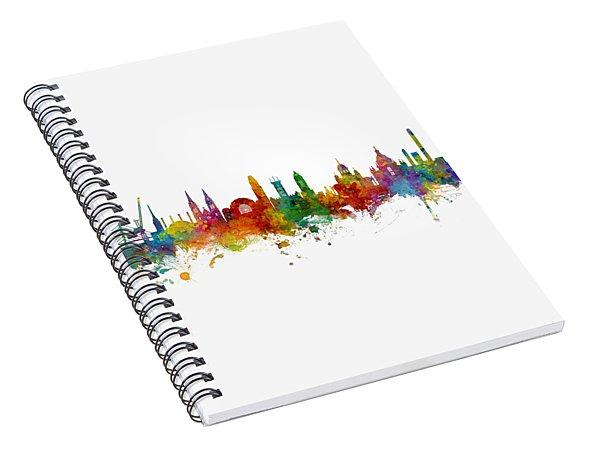 Helsinki Finland Skyline Spiral Notebook