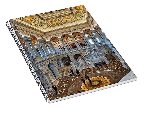 Library Of Congress Spiral Notebook