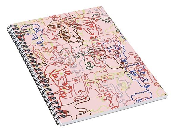 line faces I Spiral Notebook