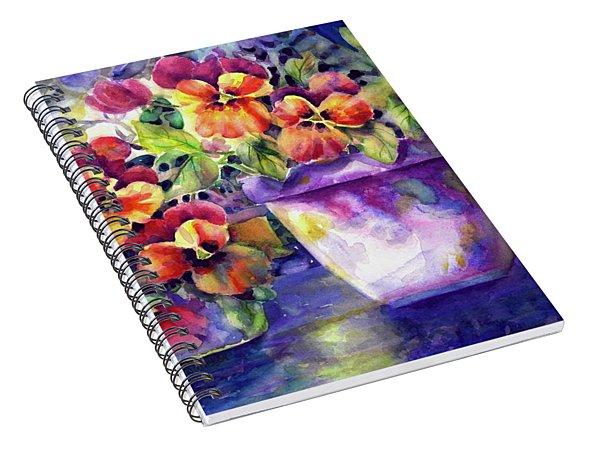 Patio Pansies Spiral Notebook