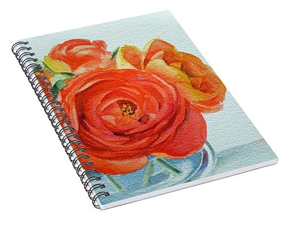 Ranunculus Spiral Notebook