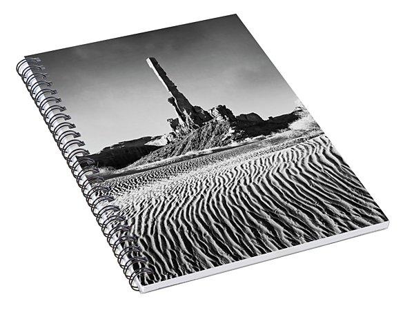 Spiral Notebook featuring the photograph Rippled Dunes by Scott Kemper