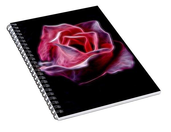 Single Pink Rose Spiral Notebook