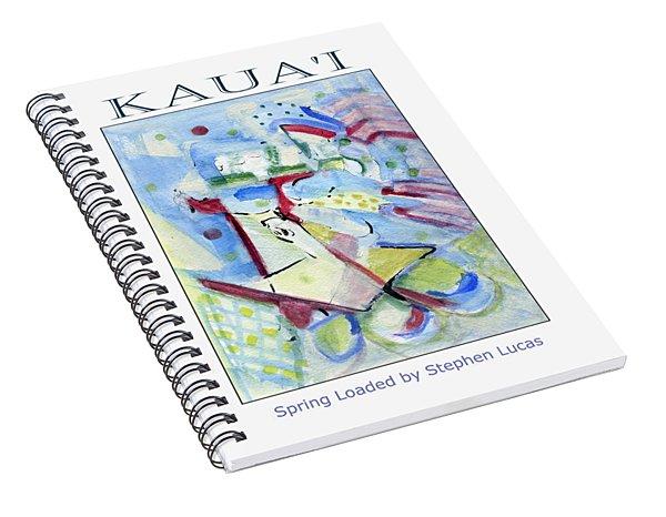 Spring Loaded Island Poster  Spiral Notebook