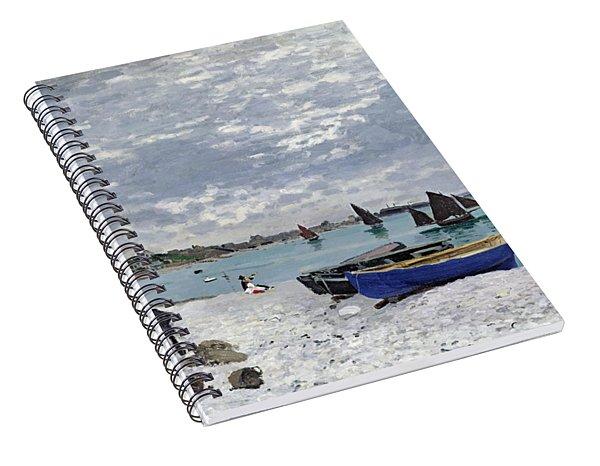 The Beach At Sainte Adresse Spiral Notebook
