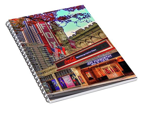 The Fabulous Fox Theatre Atlanta Georgia Art Spiral Notebook