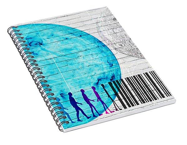 Urban Graffiti - Binary Evolution Spiral Notebook