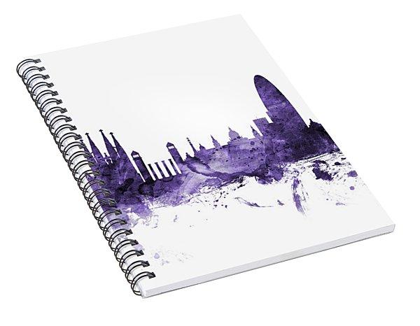 Barcelona Spain Skyline Spiral Notebook
