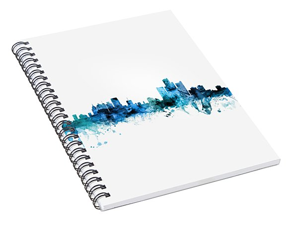 Detroit Michigan Skyline Spiral Notebook
