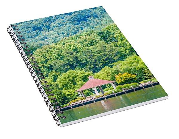 Spiral Notebook featuring the photograph Scenery Around Lake Lure North Carolina by Alex Grichenko