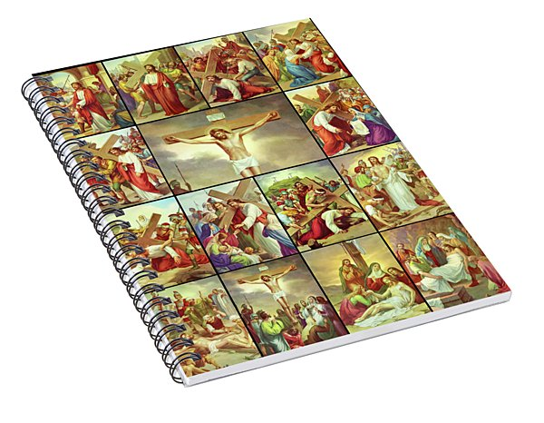 14 Stations Of The Cross Spiral Notebook