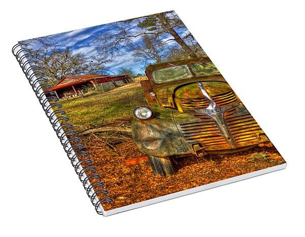1947 Dodge Dump Truck Country Scene Art Spiral Notebook