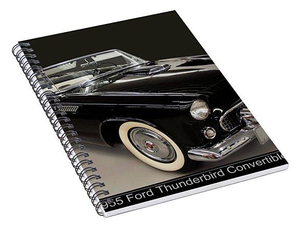 1955 Ford Thunderbird Convertible Spiral Notebook