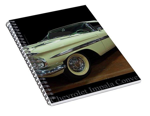 1959 Chevy Impala Convertible Spiral Notebook