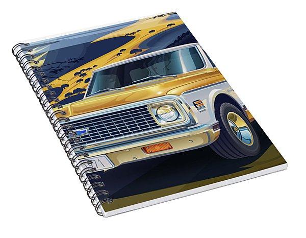 1971 Chevrolet C10 Cheyenne Fleetside 2wd Pickup Spiral Notebook
