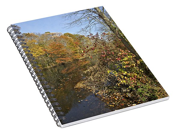 Autumn Colors On The Canal Spiral Notebook