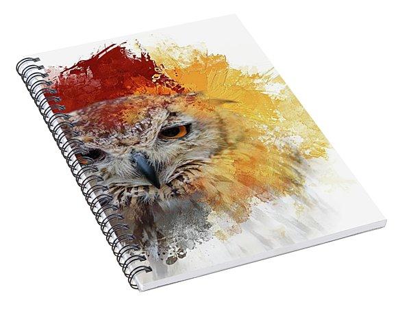 Indian Eagle-owl Spiral Notebook