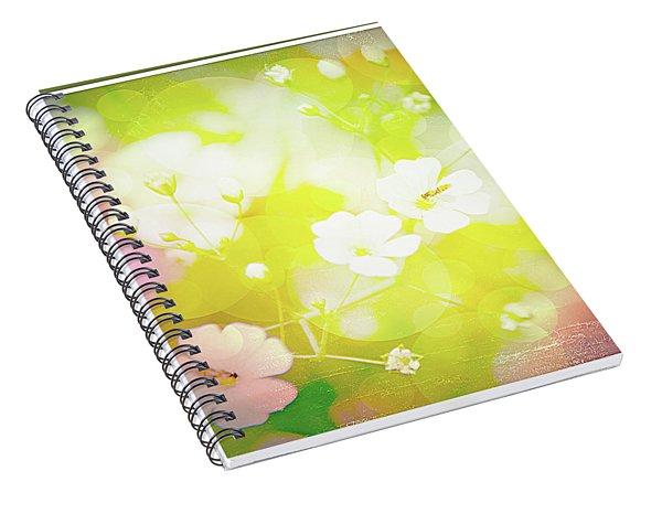 Summer Flowers, Baby's Breath, Digital Art Spiral Notebook