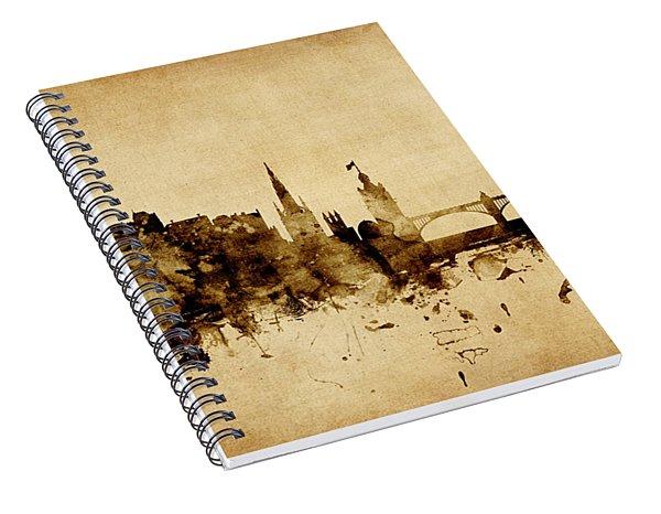 Edinburgh Scotland Skyline Spiral Notebook