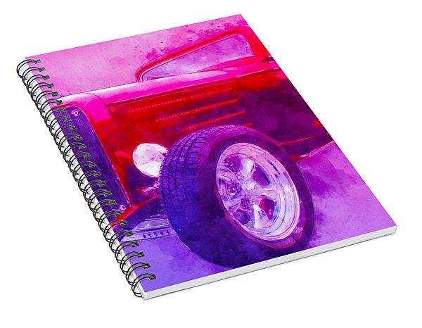 32 Highboy Watercolour Deuce On Acid Spiral Notebook