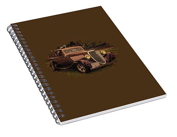 Cool 34 Ford Four Door Sedan Spiral Notebook