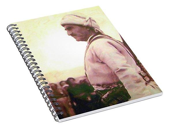 Portrait Of Melle Mutafa Barzani Spiral Notebook