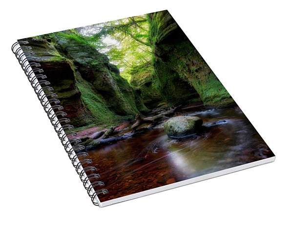The Devil Pulpit At Finnich Glen Spiral Notebook