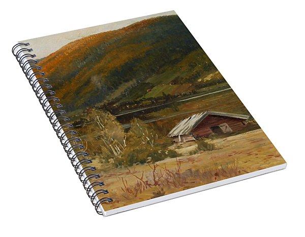 4382195  Carl Brandt  1871-1930    Landscape Spiral Notebook